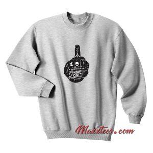 Vulgar Hipster Opposing Art Sweatshirt