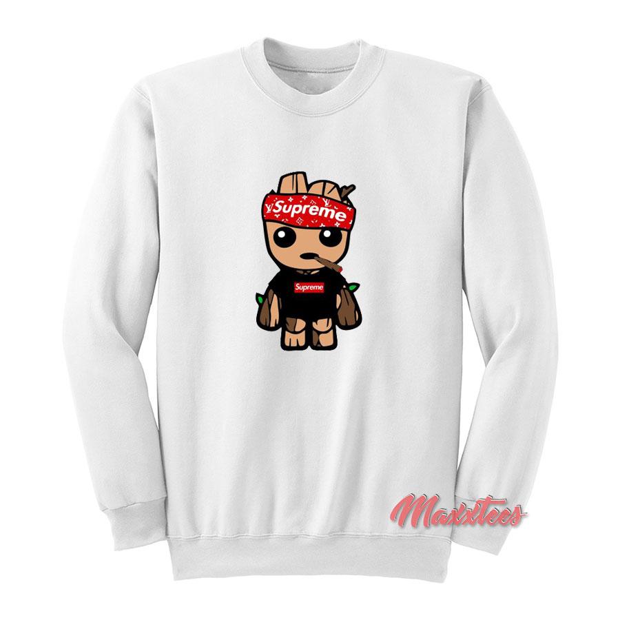 b2cfe542 Baby Groot Supreme LV Sweatshirt - Sell Trendy Graphic T-Shirt