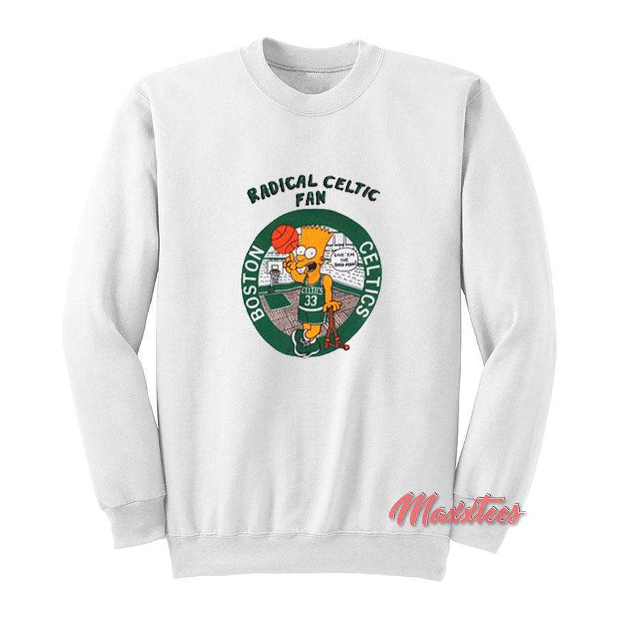 Bart Simpson Radical Boston Celtics Sweatshirt - Trendy Graphic T-Shirt 021159a8d