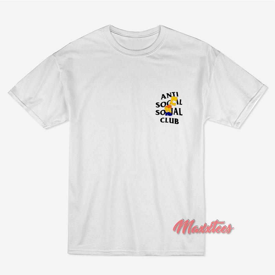 1a7b91e9a ... anti social social club x bart mooning parody t shirt trendy ...