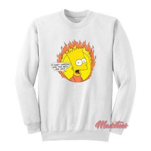 Flamed Bart Off White Sweatshirt