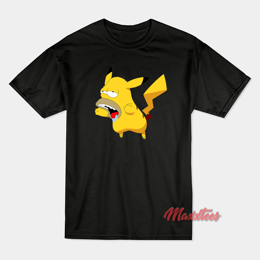 5ebb0edaa0 Pikachu Homer Simpsons T-Shirt - Sell Trendy Graphic T-Shirt