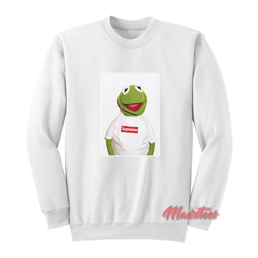 73d2e4c4a44b Supreme Kermit Frog Sweatshirt. Home   Clothing   Sweatshirts
