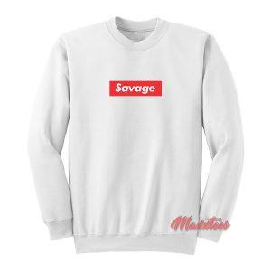 21 Savage Box Logo Supreme Sweatshirt
