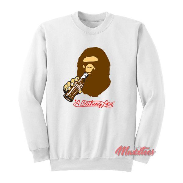 A Bathing Ape Coca Cola Bape Sweatshirt