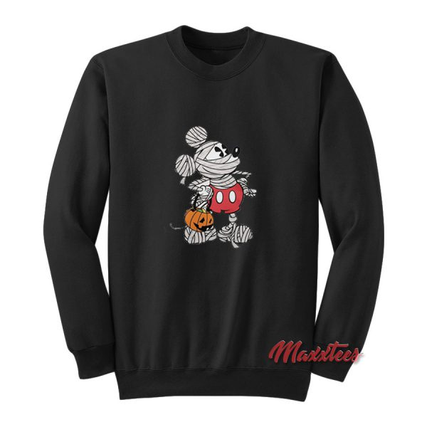 Mickey Mouse Mummy Halloween Sweatshirt