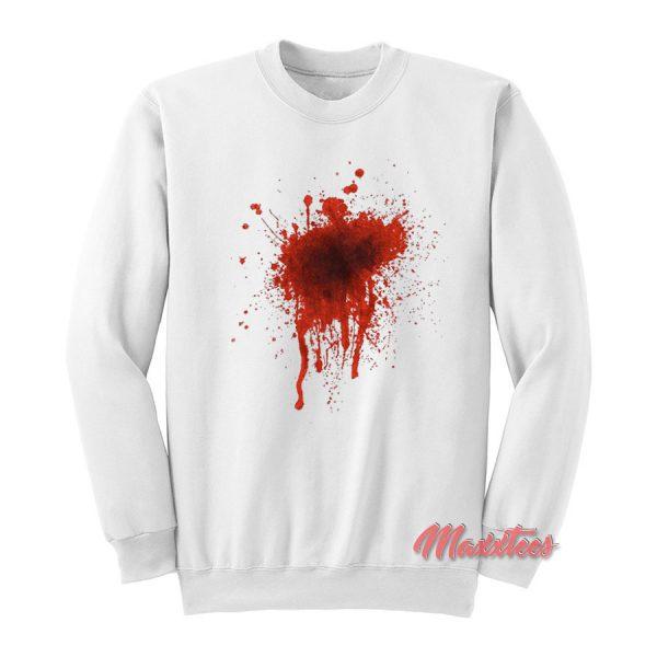 Fake Blood Halloween Sweatshirt