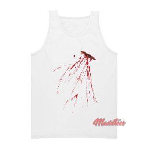 Fake Bloody Stab Wound Halloween Tank Top