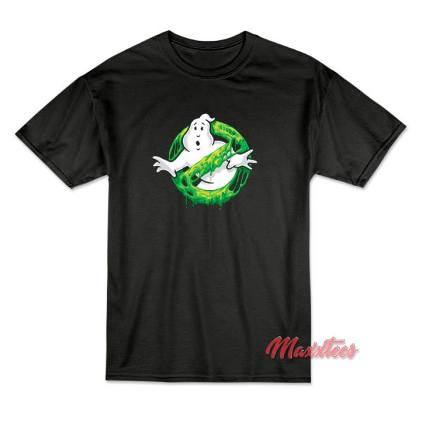 Ghostbusters Slime Logo T-Shirt