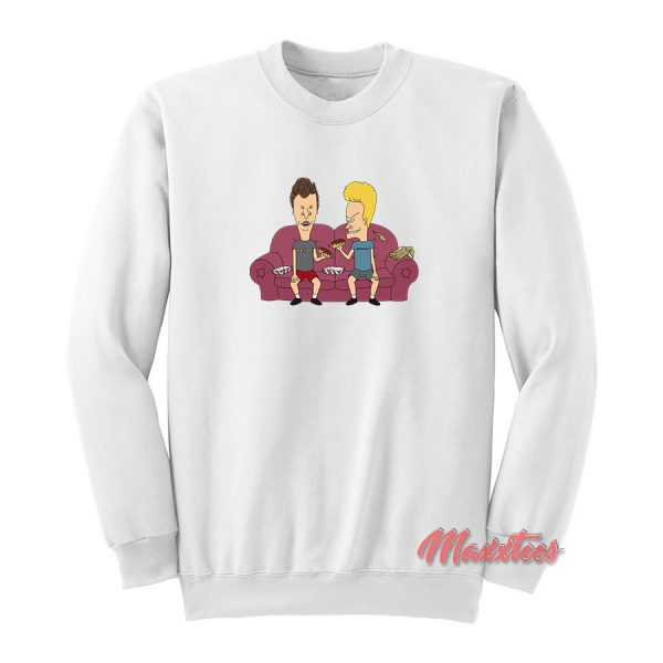 Beavis and Butt-Head on The Couch Sweatshirt