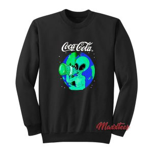 Aliens Drink Coca Cola Sweatshirt