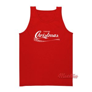 Celebrate Christmas Coca Cola Tank Top