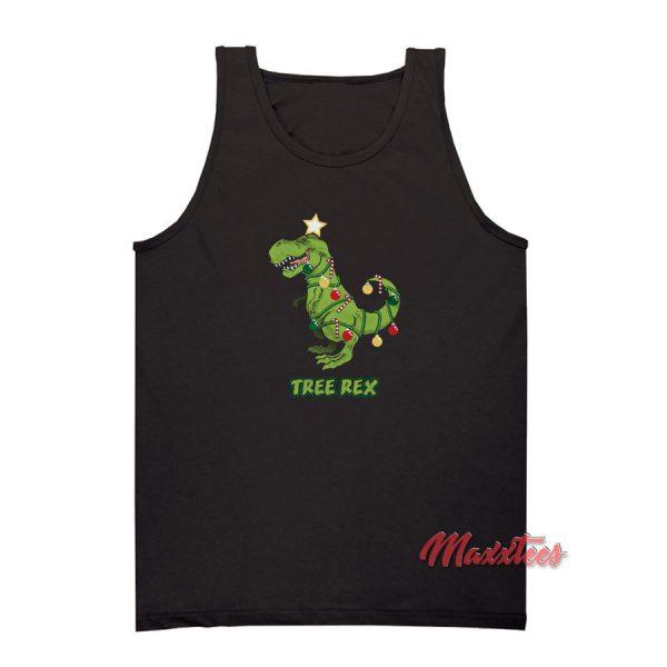 Tree Rex Dinosaur Christmas Tank Top