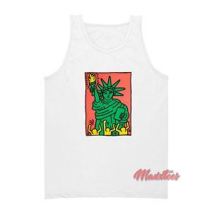 Keith Haring Statue of Liberty Tank Top