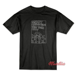 Keith Haring Merry Christmas New York City T-Shirt