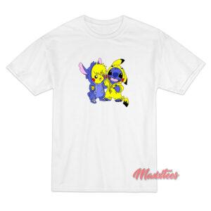 Pikachu and Stitch T-Shirt