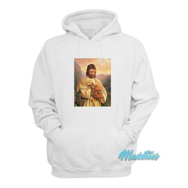 Jesus Christ Holding a Lamb Hoodie