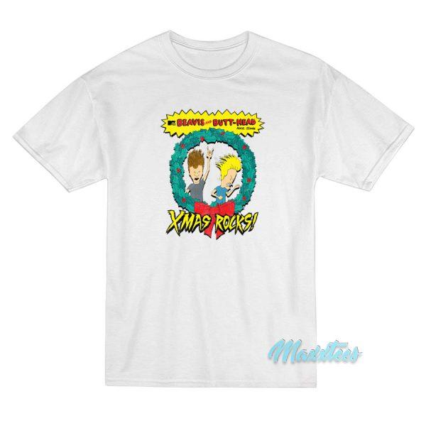 Beavis and Butt-Head Xmas Rocks T-Shirt