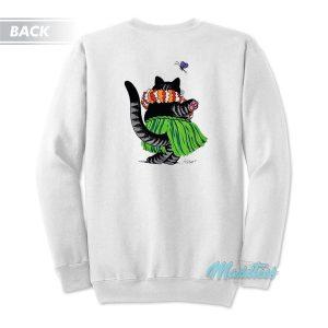 B Kliban Cat Hula Hawaii Sweatshirt