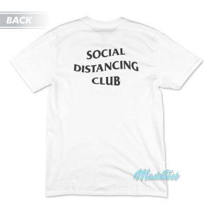 Social Distancing Club T-Shirt Cheap Custom