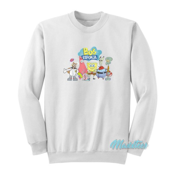 SpongeBob Bob Esponja Happy Group Shot Sweatshirt