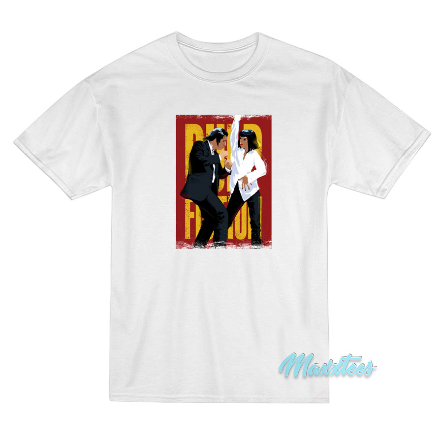 Pulp Fiction Anniversary Funny Mia Wallace Vincent Vega Dancing White T-shirt