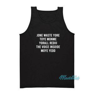 Jone Waste Yore Toye Monme Yorall Rediii Tank Top