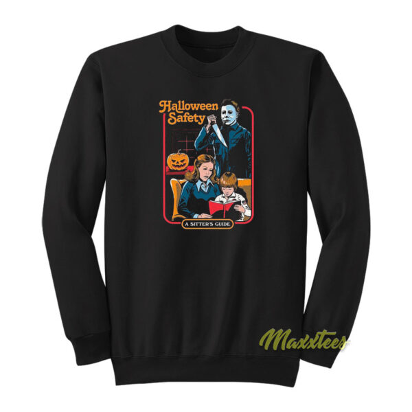 Michael Myers Halloween Safety A Sister Guide Sweatshirt